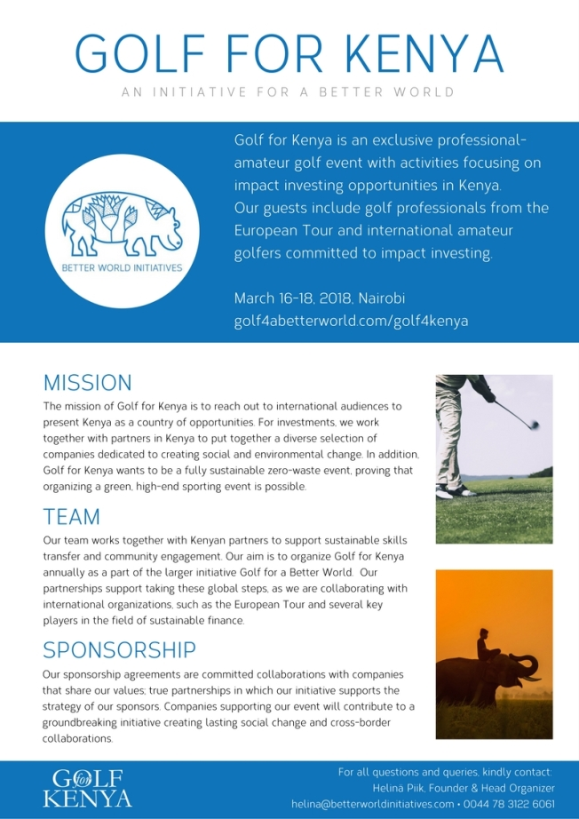 Golf for Kenya_1-pager